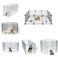 14/28/30/36/42/48 in Pet Playpen Crate Fence Dog Play Exercise Pen Exercise Cage
