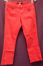 """LUCKY BRAND sz 4/27 """"SWEET N' CROP"""" RED JEANS measures 28"""" x 25"""" EUC (#380-10)"""