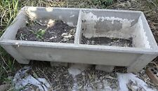 Fabulous Vintage Cement 2 Bay Trough Laundry Sink, Cold Beer Storage,Animal Feed