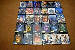 4K UHD, Blu Ray & DVD Joblot Bundle Collection D 200+ Listing D & Star Wars 4K