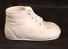 Ceramic Bisque Baby Walking Shoe Ready to Paint