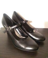 Women's Apostrophe Black Leather High Heel Dress Shoes Marcella 8.5 M