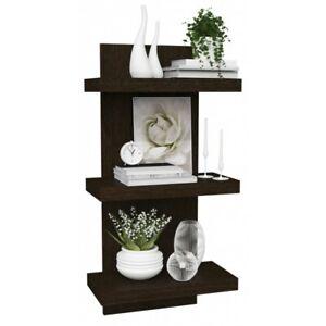 3 Shelf Floating Walnut Shelves - Extra Deep - Modern and Stylish - Dark Wood