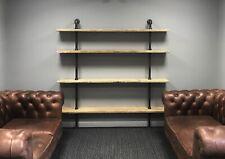 Pipe & Reclaimed Wood Scaffold Board Industrial Shelves Bookcase Shelf 5 Feet