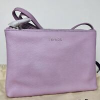 TED BAKER NWT Macey Double-Zip LEATHER Crossbody Bag Purse AUTHENTIC
