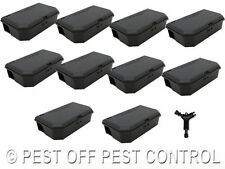 20 x Mouse Mice Bait Box Station Trap & key to hold poison Rodent Pest Control