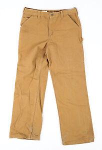 Men's Carhartt B11 Brown Duck Canvas Work Pants Fits 32x32