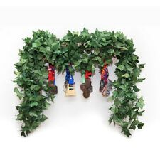 12 pcs (85 ft) artificial greenery fake ivy vines big leaves high simulation