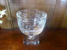 "STUNNING WILLIAM YEOWARD crystal/cut glass MARISSA CAVIAR ICE DISH - 6.25"" heig"