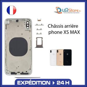 Châssis vitre arrière Iphone XS MAX Noir Blanc Gold (Logo, ce...)