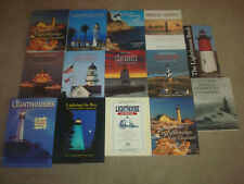 Lighthouse Book LOT Photography Illustrated New England Maine Art Puzzle Jigsaw