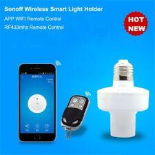 Sonoff E27 WiFi Wireless Screw Light Lamp Bulb Holder Cap Socket Smart Home