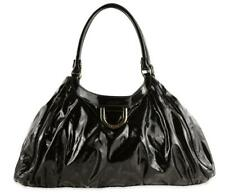 156-4 Gucci Abbey D-ring Black Patent Leather Hobo Bag