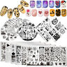 BORN PRETTY Halloween Nail Stamping Plates Christmas Valentine's Day Templates