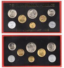 Greece 8 Greek Coins 1976 UNC BANK OF GREECE, Aristotle Democritus Pericles, 24a