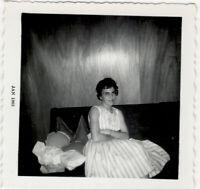 Beautiful Elegant Fancy Woman Rayban Glasses Snazzy Vintage Photo Jan 1963 Dress