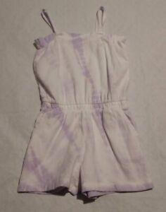 NWT Gap Kids Girls Purple White Tie Dye Sleeveless Romper XS 4-5