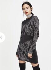 Miss Selfridge Glitter High Neck Dress uk size 16 BNWT Free P&P