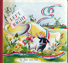 Jan and Piet LEFT AND RIGHT wooden shoes 1955 first edition HC Scarce