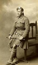 British Soldier 1921 London Scottish Kilt Army  Empire 7x4 Inch Reprint Photo