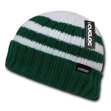 Forest Green & White Warm Winter Skull Ski Sailor Beanie Beanies Cap Hat Hats