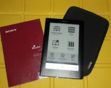 Sony Digital Book Reader PRS-600 Black with case - Very nice Manual AC