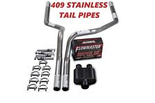 "07-14 Chevy GMC Truck Stainless 2.5"" Dual Truck Exhaust Kit Flowmaster Super 10"