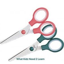 Deli SCISSORS 132mm Child Kids SAFETY ~ School Student Stationary Pink or Green