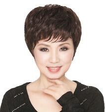 Charm Short Black or Brown Wigs Men Straight Hair Full Fashion Wig Cosplay Wig