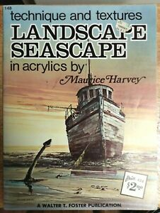 Landscape Seascape in Acrylics by Maurice Harvey