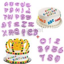 36 Piece Alphabet Letter & Number Fondant Icing Cutter Decorating Cake Mold Set