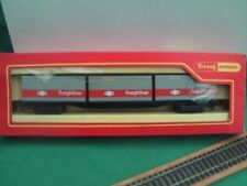 TRIANG/HORNBY R.633 LINER TRAIN WAGON WITH 3 CONTAINERS N.M.I.B.