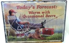 TODAY'S FORCAST: WARM WITH OCCASIONAL BEERS, METAL SIGN, APO/FPO OK, RIVERS EDGE