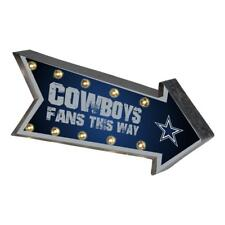 Dallas Cowboys Arrow Marquee Sign - Light Up - Room Bar Decor NEW 18""