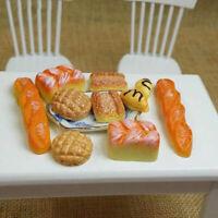 New 6PCS Miniature Bread Toast Kitchen Food Bakery Pastry Dollhouse For 1:1 K5V6