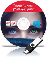 Digitale Bild Fotografie Photo Editor Editing Software USB + Windows 7 8 10