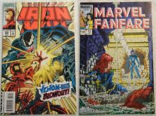 Iron Man #302 & Marvel Fanfare #12!- Venom/Black Widow!-Nice!
