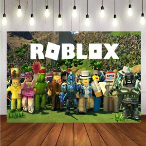 Roblox Photography Backdrop Children Birthday Party Kids Photo Background Banner