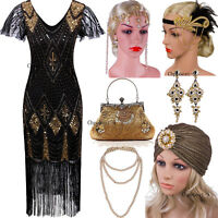 Ladies 20's 1920s Charleston Flapper Dress Gatsby Fancy Party Costumes Plus Size