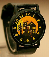 Vtg Halloween Haunted House Floating Ghost Mystery Dial Watch New NOS 1980's