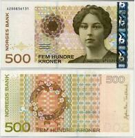 "Norway 500 Kroner 2012 P 51 New With Prefix "" A "" LETTER UNC"
