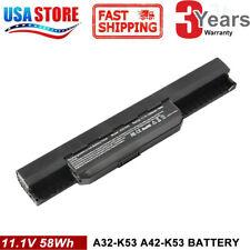Laptop Battery For Asus X43B X43E X44H X54 X84 X84C X84H A53 K53J A31-K53 Series