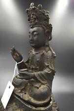 Chinese Bronze Statue Of Buddha Ming Dynasty