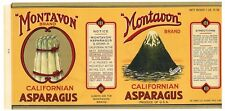 MONTAVON Brand, Volcanic Cinder Cone *AN ORIGINAL 1920's TIN CAN LABEL* wear D06