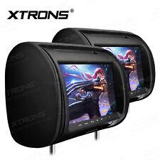 """Black 9"""" HD Touch Screen Car Pillow Headrest Monitor DVD CD Player IR/FM Game"""