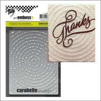 Circles embossing folder Carabelle embossing folders Grands Cercles AE60013