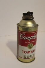 """VINTAGE  CAMPBELL'S TOMATO SOUP CAN ADVERTISING LIGHTER/RARE/RARE!! 6 1/2 """" TALL"""
