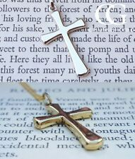 """Fine 9ct White or Yellow Gold 2.6cm Cross Necklace 16"""" 18"""" 20"""" 24"""""""