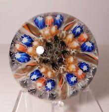 APPEALING Vintage 5 SPOKE STRATHEARN CARTWHEEL MILLEFIORI Art Glass Paperweight