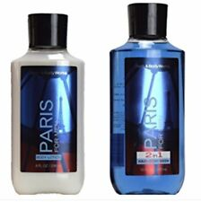 Bath & Body Works for Men Paris Body Lotion + 2 in 1 Hair & Body Wash Set of 2pc